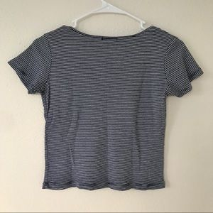 Brandy Melville Tops - Brandy Melville Black and White Striped Shirt